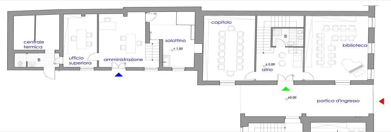 Roma ristrutturazione della casa madre delle missionarie for Piano terra della casa